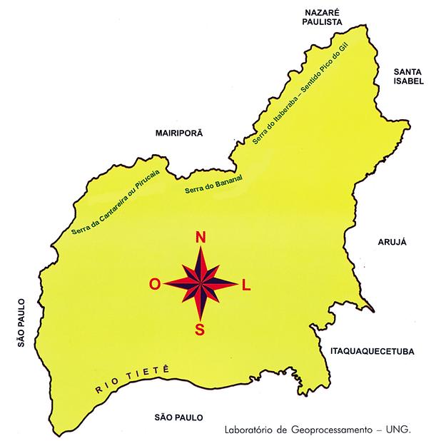 2. Mapa de Guarulhos. Em destaque, as Se
