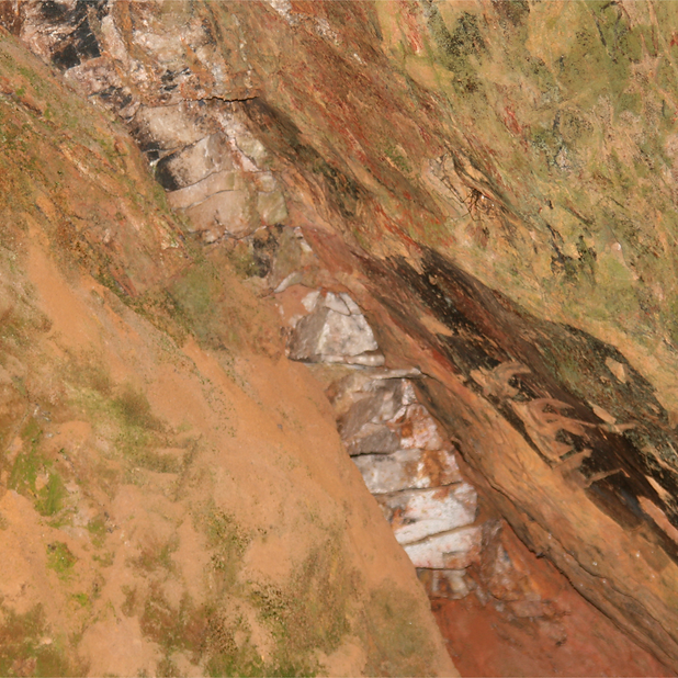 7. Rocha de quartzo, Lavra do Geraldo, B