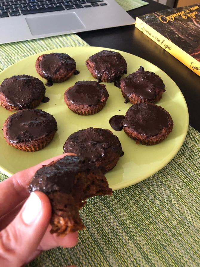 Веган портокалови кексчета със заряд от какао, джинджифил и Мака