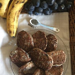 Бананови мини чиа палачинки с грозде