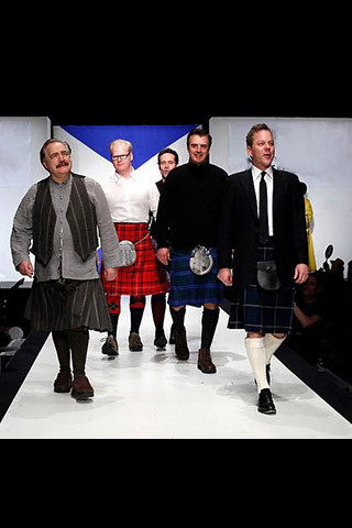Kiefer Sutherland, Chris Noth, Brian Cox CBE & Jim Gaffigan British-born Canadian actor, film producer and director; American actor; Scottish actor; American actor and comedian, respectively