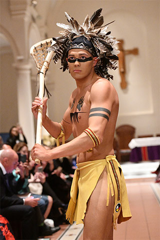 Early Native American Lacrosse Player