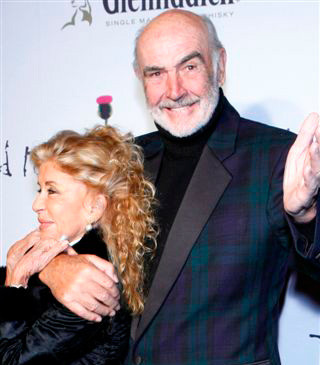 Sir Sean and Lady Connery