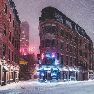 Boston in the snow