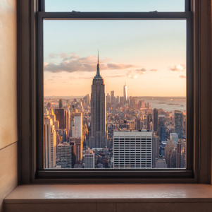 New York from a window
