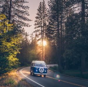 Driving in Yosemite
