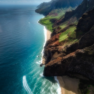 Flying over Hawaii