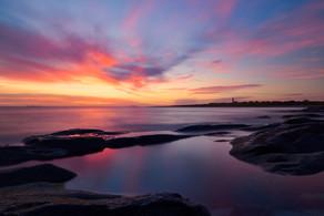Solnedgang på Alnes