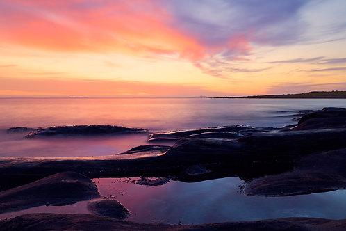 Solnedgang ved Alnes Fyr