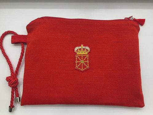 Bolso de mano con Escudo de Navarra.