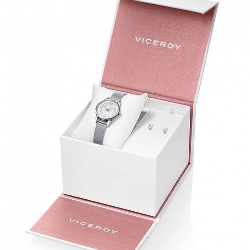 Reloj Viceroy y Pendientes corazon