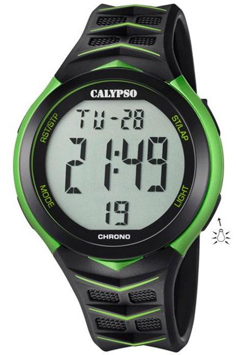 Reloj Calypso Negro y Verde digital