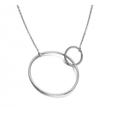Colgante plata dos círculos