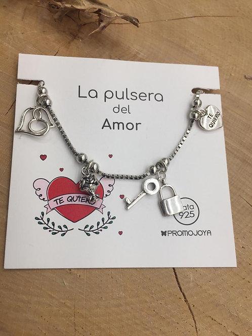 Pulsera Amor en Plata de Ley.