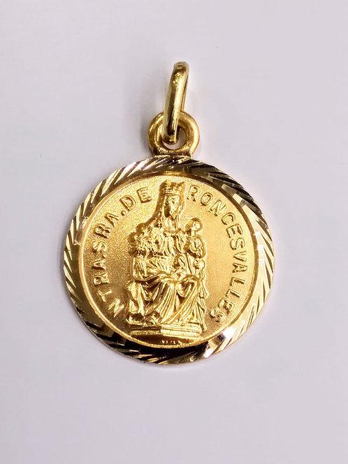 Colgante medalla Virgen de Roncesvalles en Oro 1ªLey