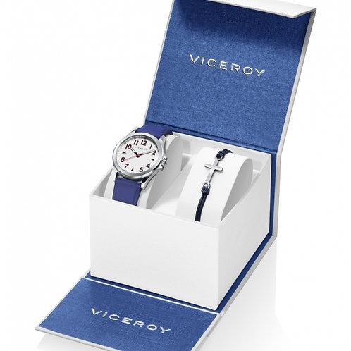 Reloj Viceroy y Pulsera  en acero