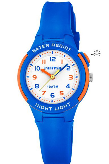 Reloj Calypso Azul y Naranja analógico