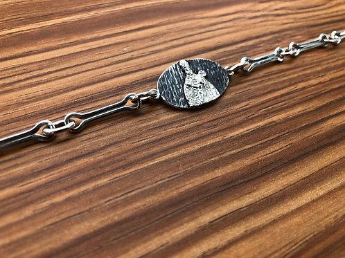 Pulsera cadenas de Navarra con San Fermín, en plata