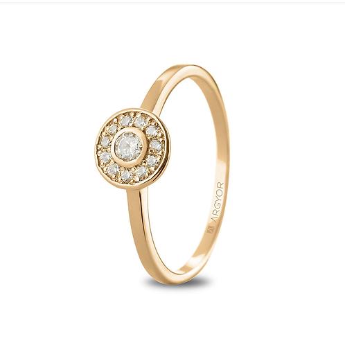 Anillo Diamantes Oro 1 Ley