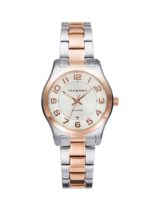 Reloj Viceroy acero bicolor mujer