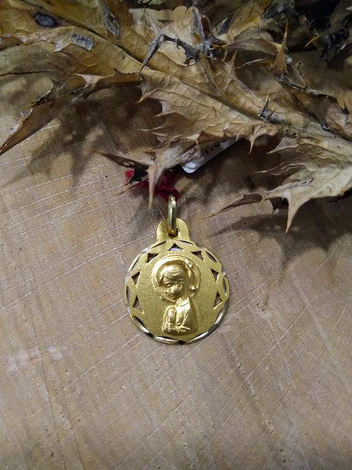 Medalla Virgen Niña en Oro 1ª Ley