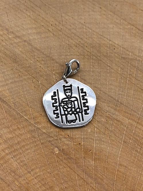 Colgante medalla de la Virgen de Ujue.