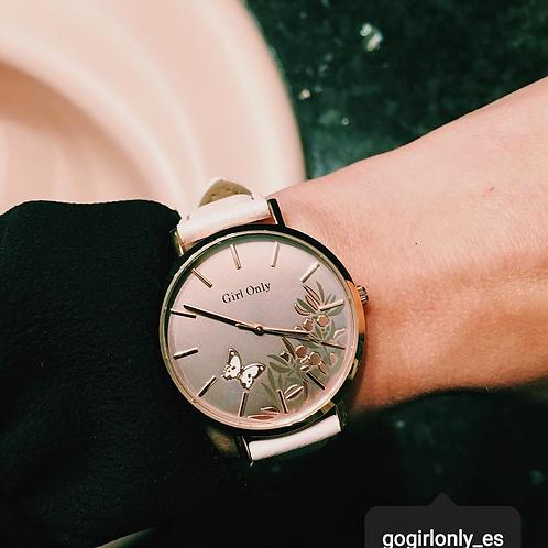 Reloj Go  Mariposa y Flores