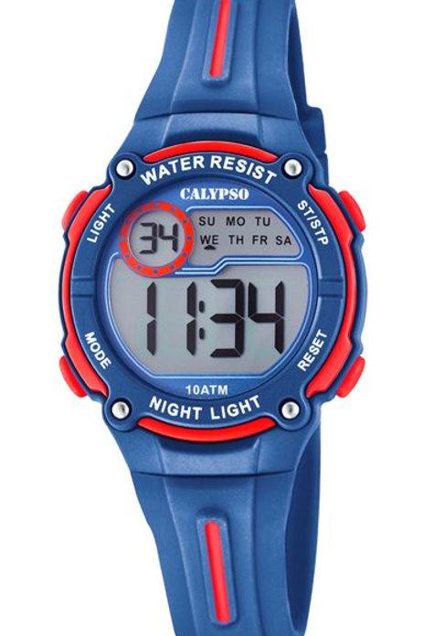 Reloj Calypso Azul y Rojo digital