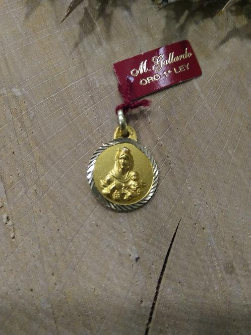 Medalla Escapulario en Oro 1ª Ley
