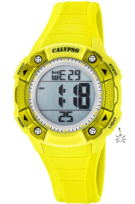 Reloj Calypso Amarillo digital