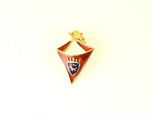 Pañuelico oro y esmalte escudo Pamplona