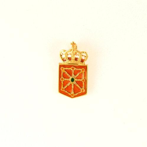 Colgante del Escudo  de Navarra en oro y esmalte