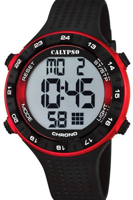 Reloj Calypso Negro y Rojo digital