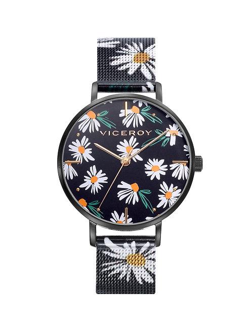 Reloj Viceroy señora con margaritas.