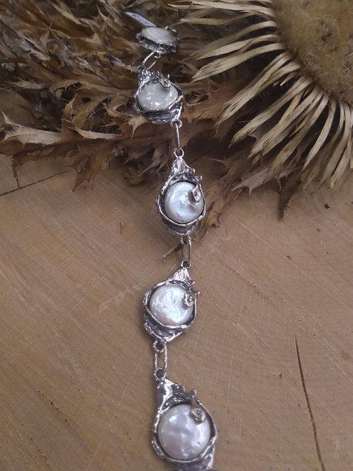Pulsera Perlas en Plata