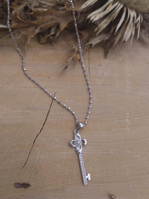 Colgante Llave con cadena en plata