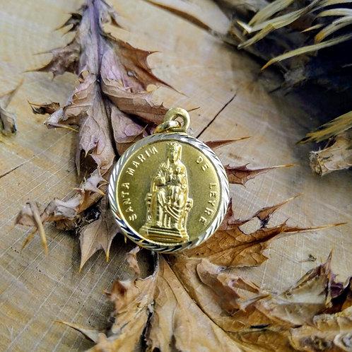 Colgante Virgen de Leyre en Oro 1ªLey