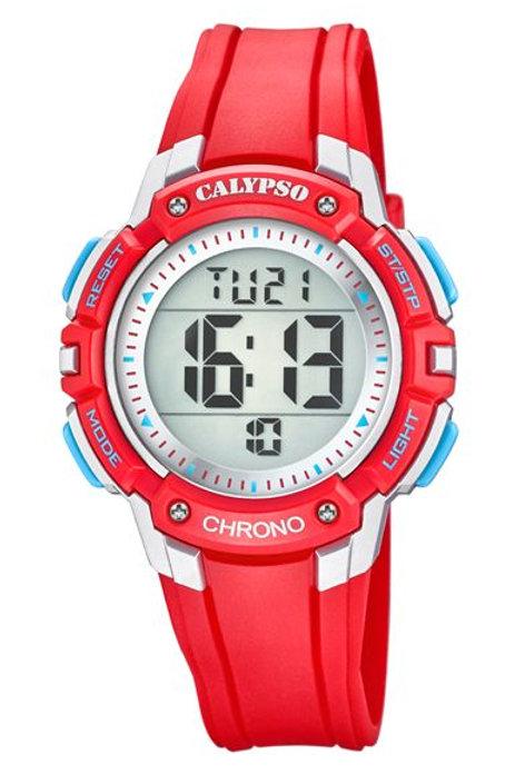 Reloj Calypso Rojo y Azul digital