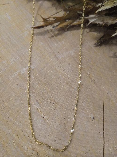 Cadena Oro 1ªley 45cm FINA