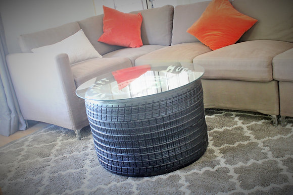 Racing Tire Coffee Table - Real Sprint Car Wheel!