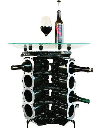 Engine Block Wine Rack