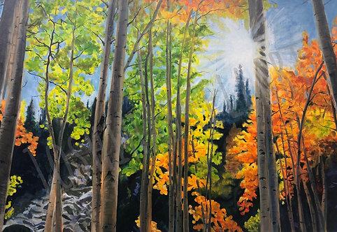 "Aspen 2 - oil on canvas - 24"" x 36"""