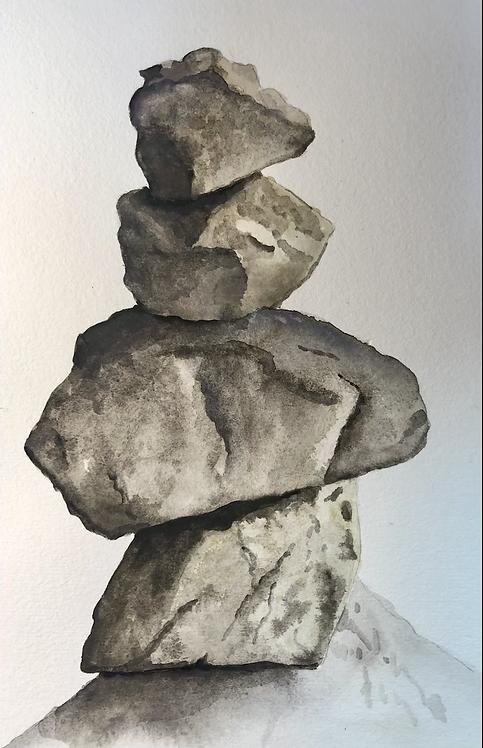 "Balanced- Watercolor - 8.5"" x 5.3"""