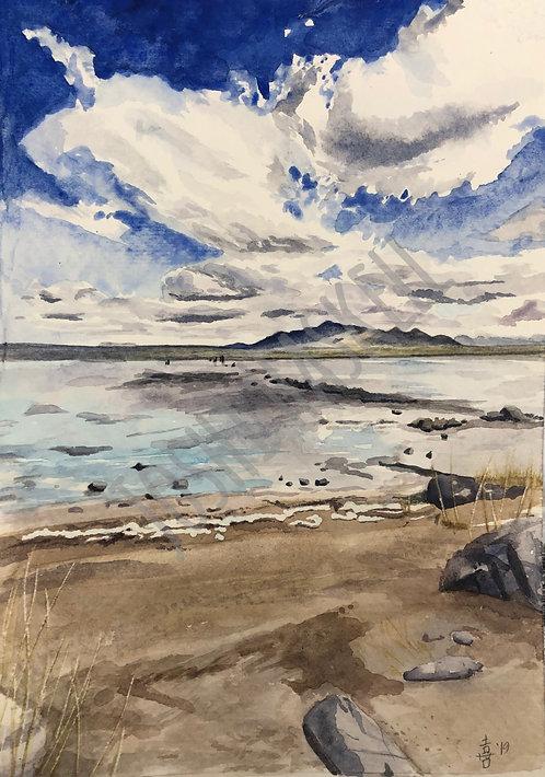 Great Salt Lake - watercolor