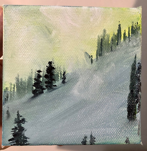 """Untracked - oil on canvas  - 4"""" x 4"""""""