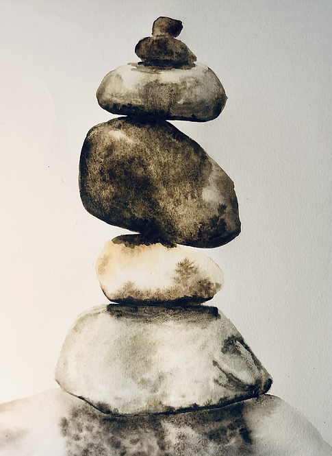 "Balance - Watercolor - 8.5"" x 11.25"""