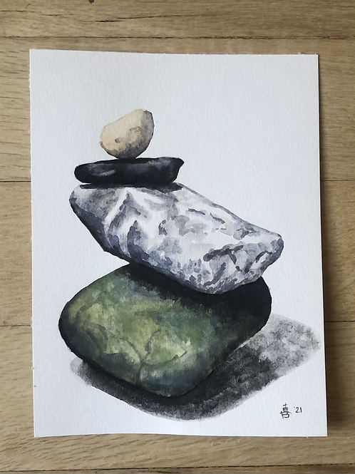 """Poise - watercolor - 4.5"""" x 6"""""""