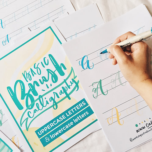 Basic Brush Calligraphy Worksheet