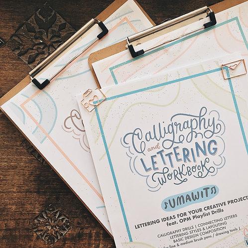 Printable Workbook # 9 Calligraphy & Lettering: UMAWIT