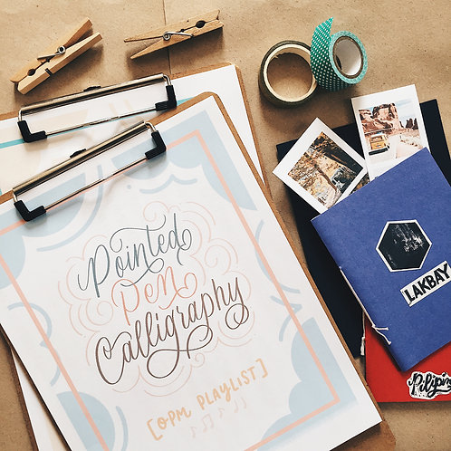 Printable Workbook # 5 Pointed Pen Calligraphy: OPM Playlist